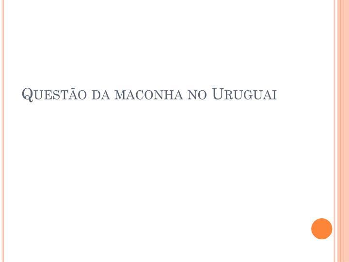 Questão da maconha no Uruguai