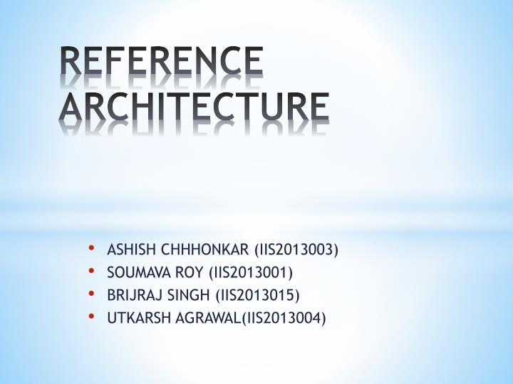 reference architecture n.