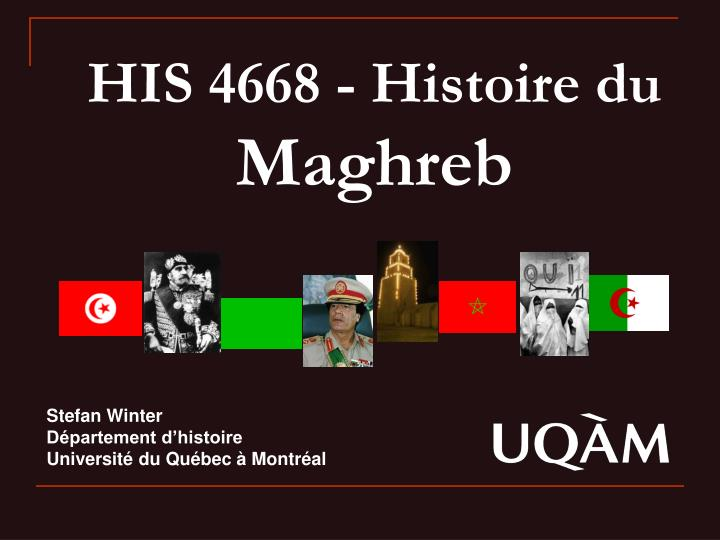 His 4668 histoire du maghreb