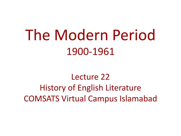 an introduction to the period of modernism See also periods modernism is not identical to modernity or modernization, though these terms' meanings overlap modernism is a recent period of modernization or modernity is ongoing since emergence of humanism and modern science in classical greece, or at least since the renaissance.