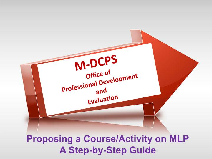 proposing a course activity on mlp a step by step guide n.