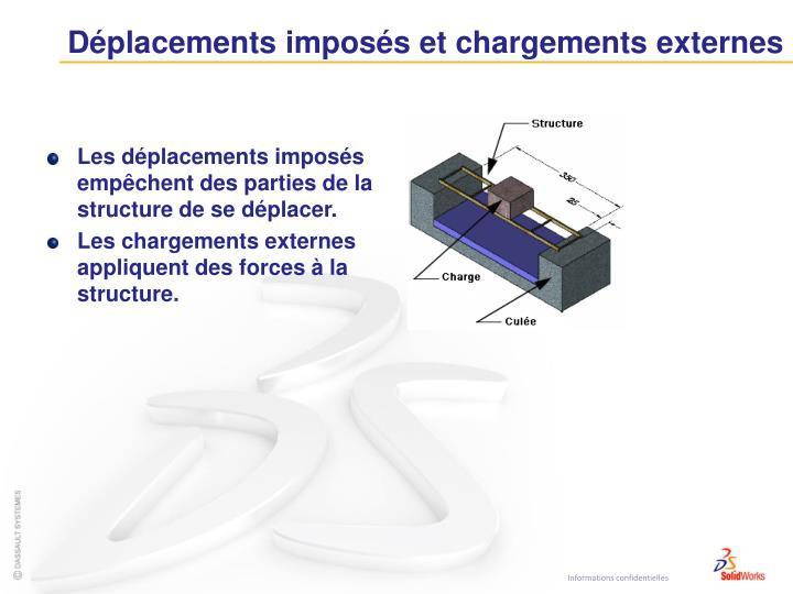 Déplacements imposés et chargements externes