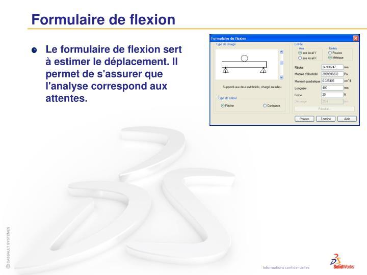Formulaire de flexion