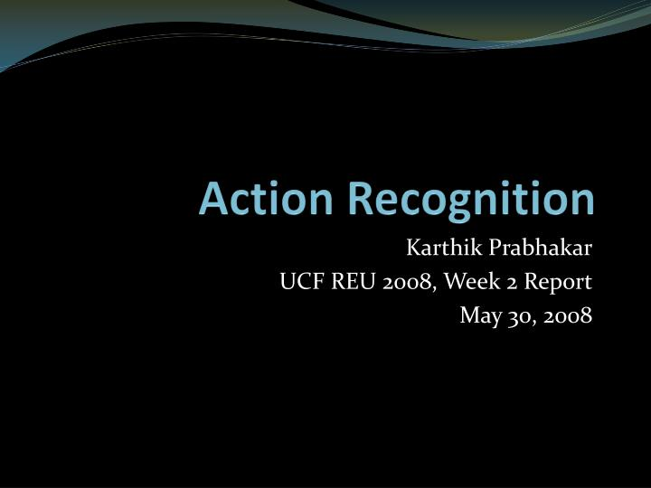 action recognition n.