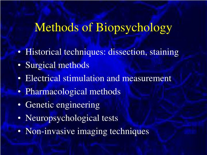 Methods of Biopsychology