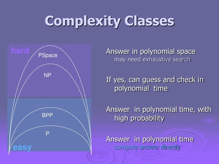 Answer in polynomial space
