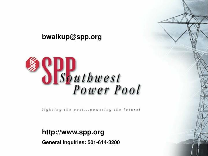 Contact SPP
