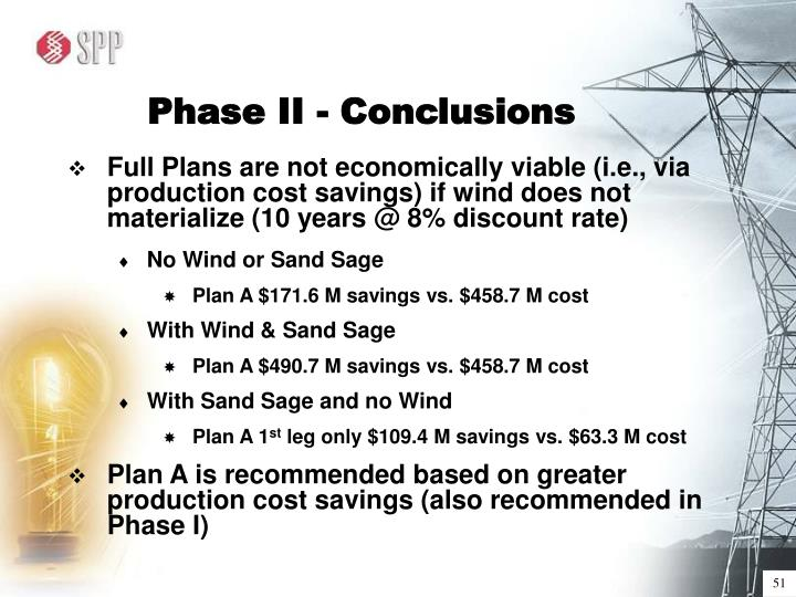 Phase II - Conclusions