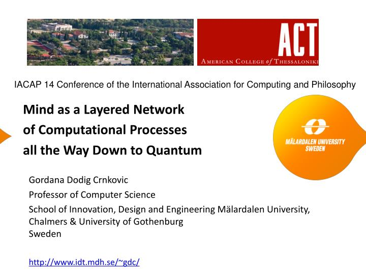 mind as a layered network of computational processes all the way down to quantum n.