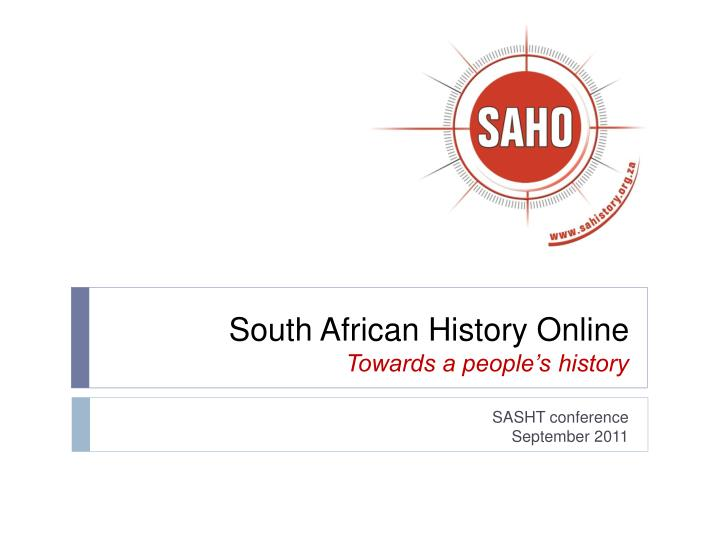 south african history online towards a people s history n.