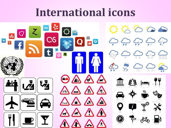 International icons