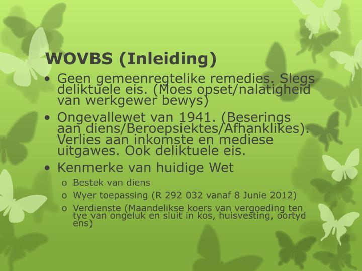 WOVBS (Inleiding)