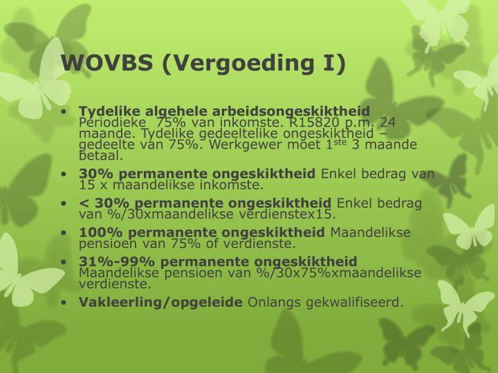 WOVBS (Vergoeding I)