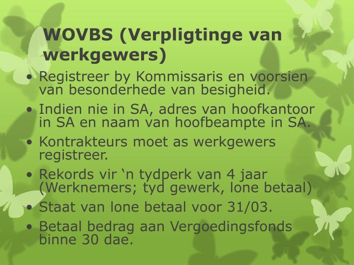 WOVBS (Verpligtinge van werkgewers)
