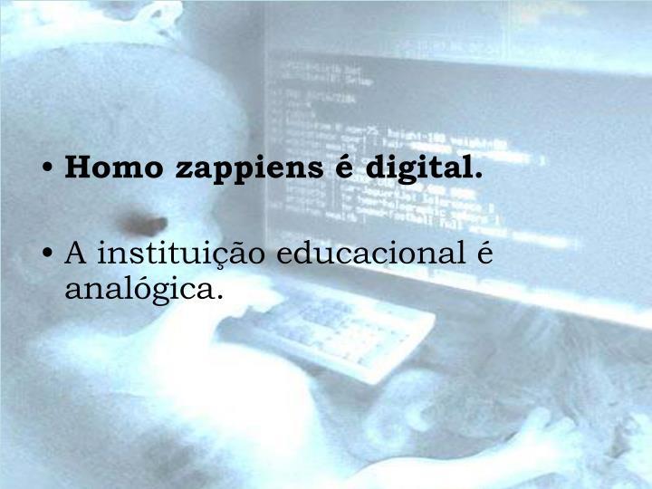 Homo zappiens é digital.