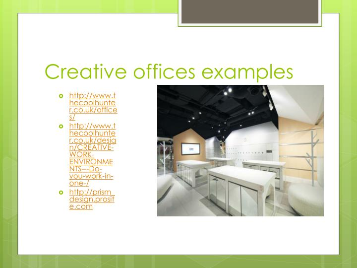 Creative offices examples