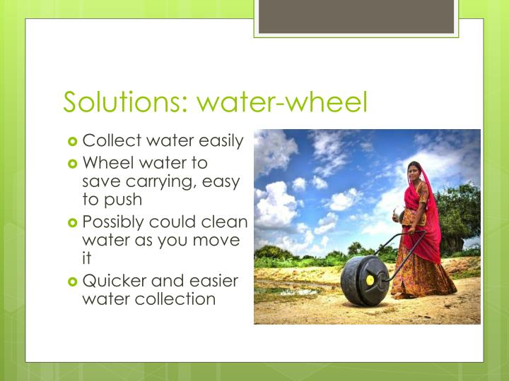 Solutions: water-wheel