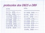 protocolos dos db25 e db9