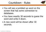 countdown rules