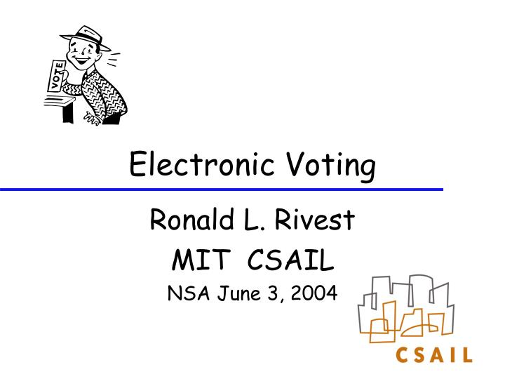 electronic voting n.