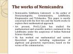 the works of nemicandra