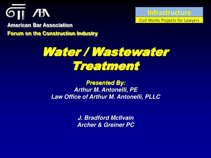 water wastewater treatment n.