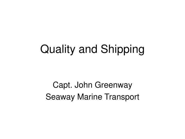 quality and shipping n.