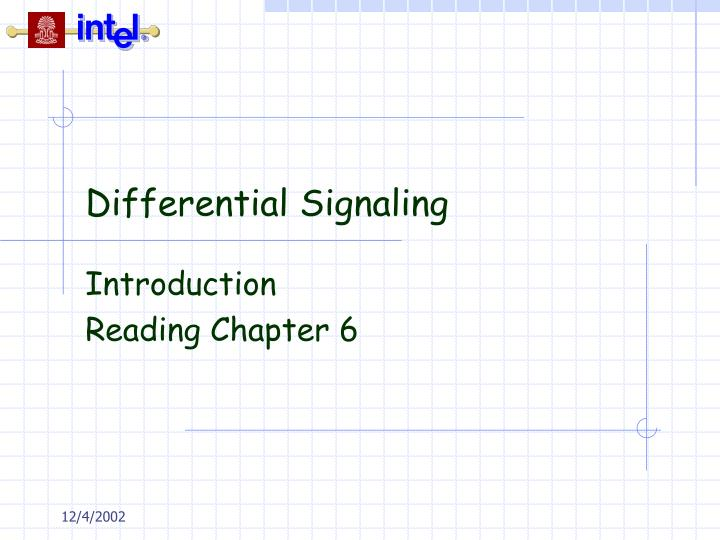 differential signaling n.
