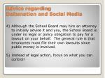 advice regarding defamation and social media1
