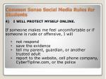 common sense social media rules for students4