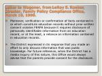 letter to wagoner from leroy s rooker director family policy compliance office march 10 19991