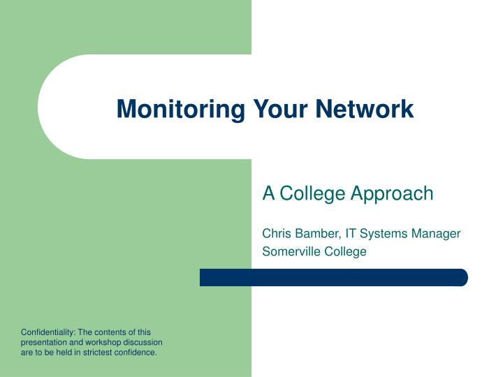 monitoring your network n.