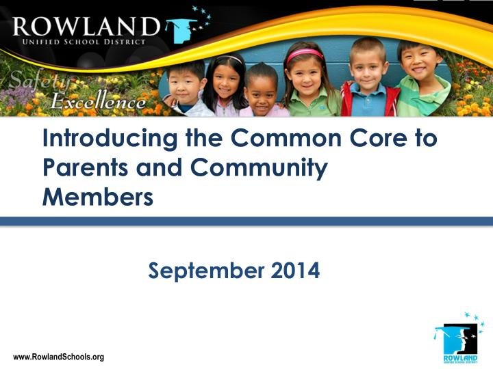 introducing the common core to parents and community members n.