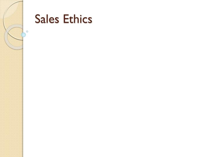 sales ethics n.