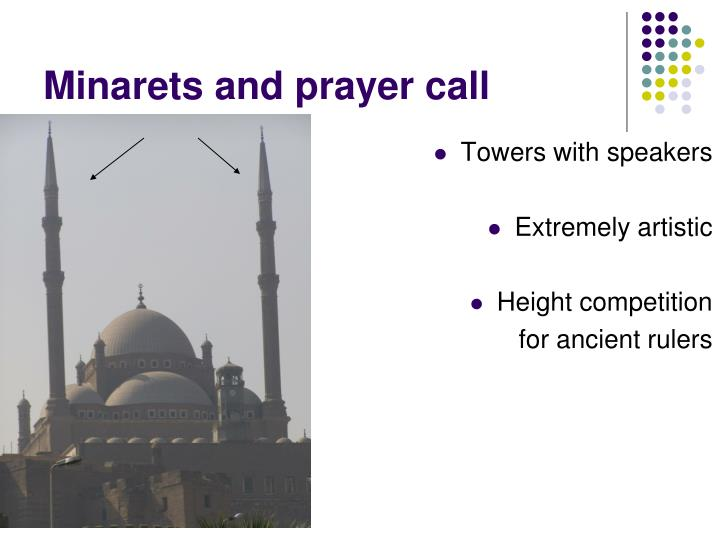 Minarets and prayer call