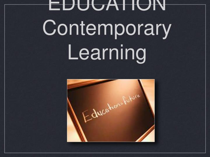 future education contemporary learning n.