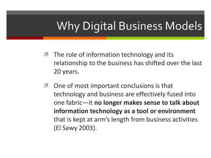 Why Digital Business Models