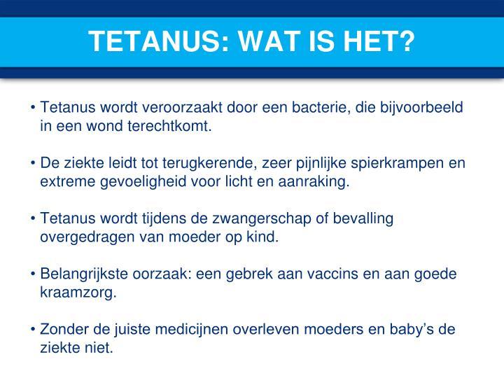 Tetanus: wat is het?