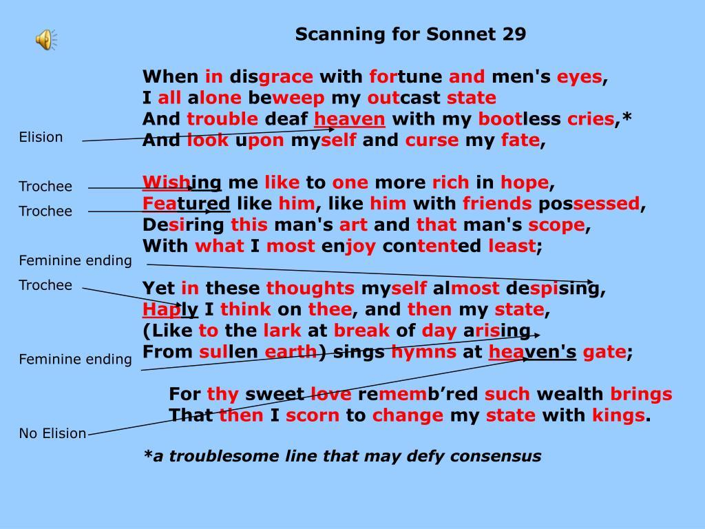 PPT - Sonnet Text Work PowerPoint Presentation - ID:5787219