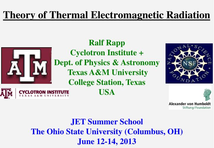theory of thermal electromagnetic radiation n.