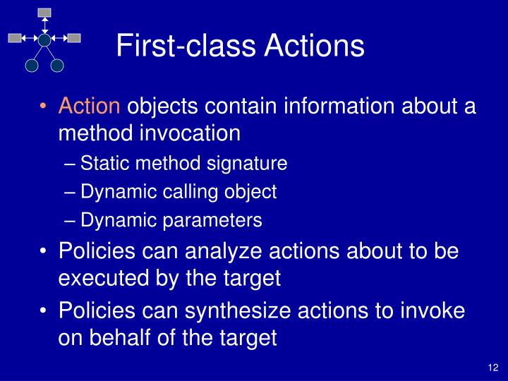 First-class Actions