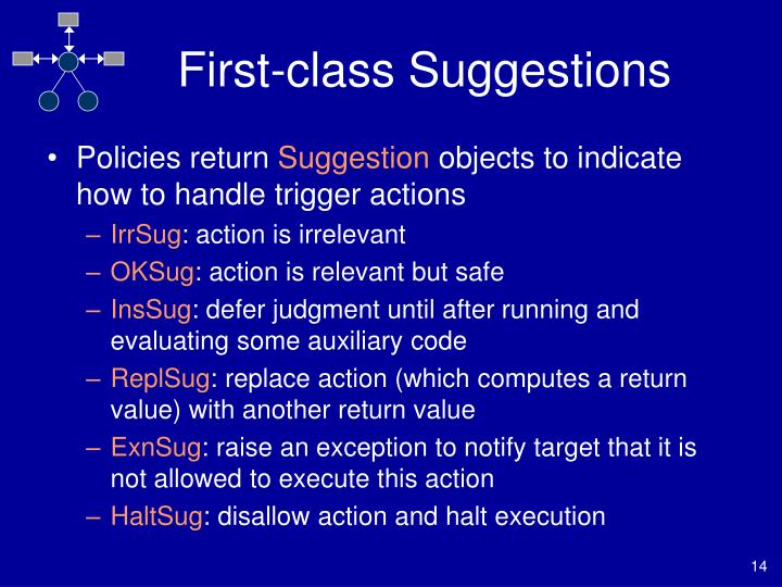 First-class Suggestions