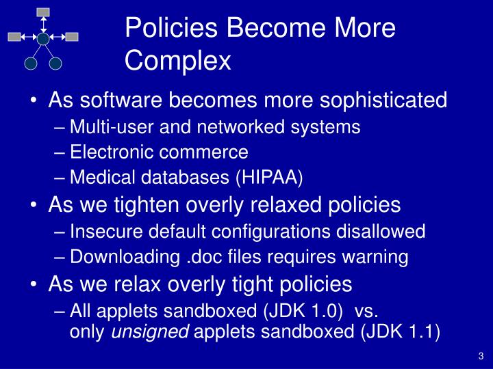 Policies become more complex