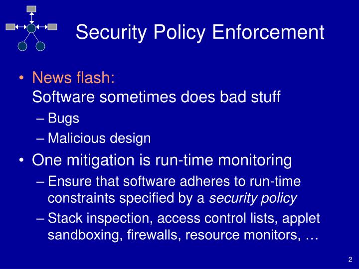 Security policy enforcement