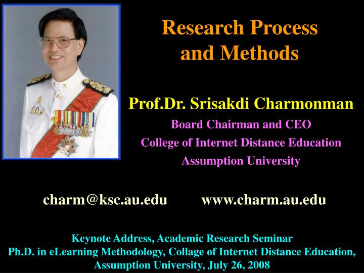 research process and methods n.