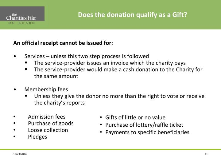 Does the donation qualify as a Gift?