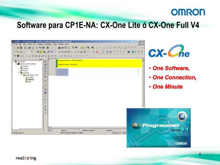 Software para CP1E-NA: