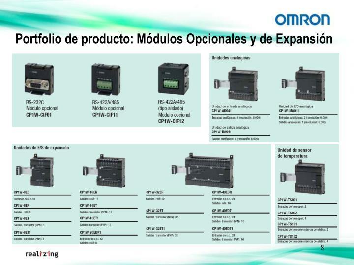 Portfolio de producto: Módulos Opcionales y de Expansión