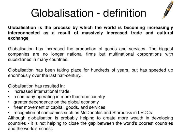 Globalization definition