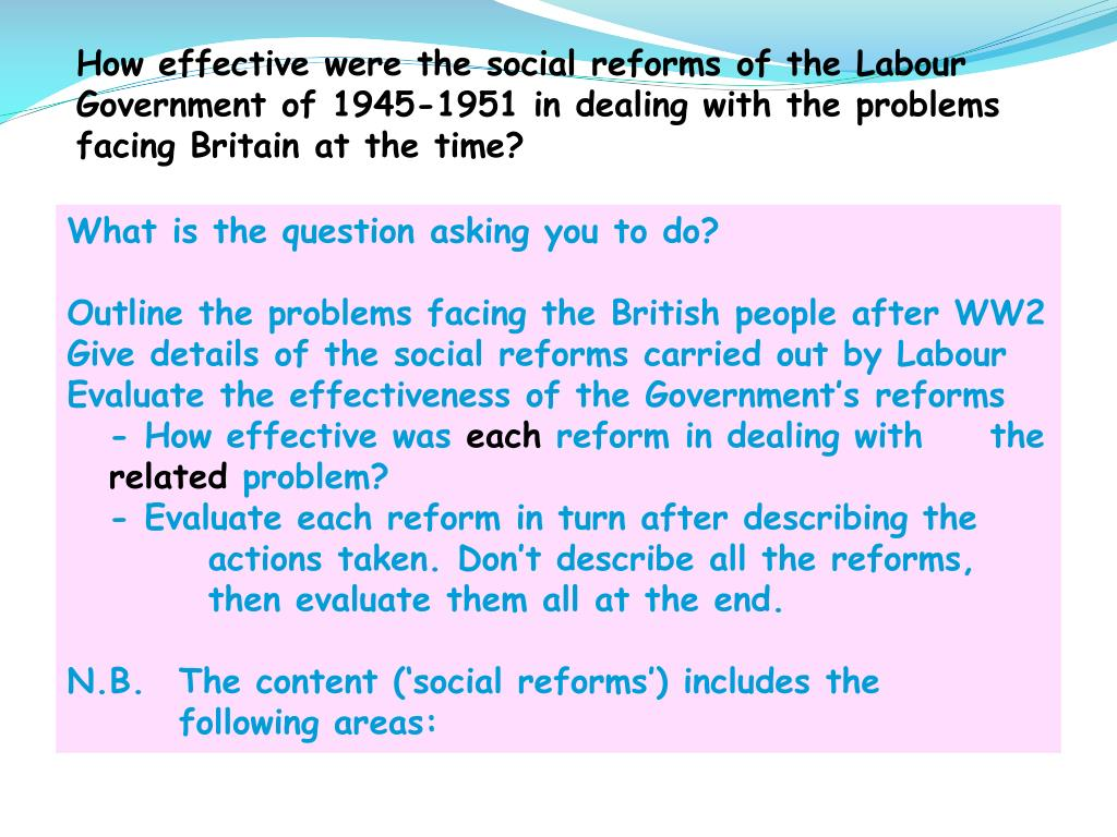 Welfare Reform In The 's Essay - Words